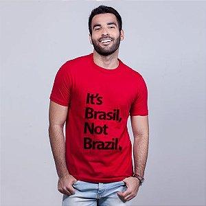 Camiseta It's Brasil Vermelha