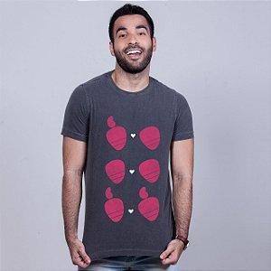 Camiseta Estonada Amor Sem Etiqueta Chumbo
