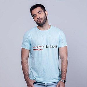 Camiseta De Leve Estonada Azul