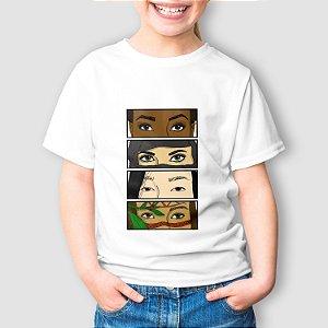 Camiseta Infantil Olhares Oprimidos
