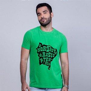 Camiseta Estonada O Nordeste é Resistência Verde