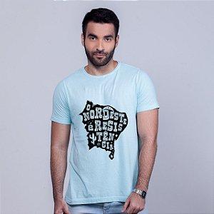 Camiseta Estonada O Nordeste é Resistência Azul