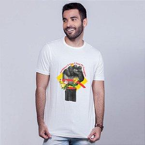 Camiseta Coragem Branca Umazarte