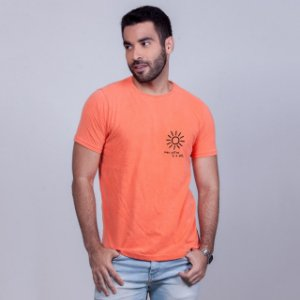 Camiseta Estonada Filtro Sol Laranja