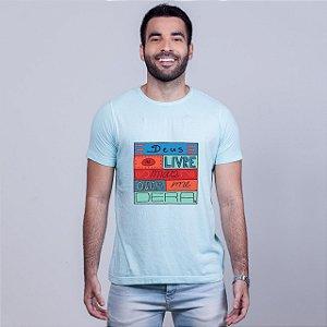 Camiseta Estonada Deus Me Livre Azul