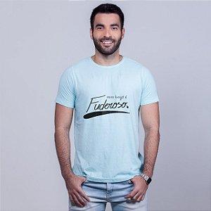 Camiseta Estonada Beijo Fuderoso Azul