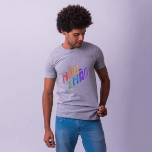 Camiseta Não é Não Mescla Amandrafts