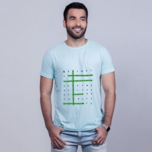 Camiseta Estonada Caça Palavras Olinda Azul