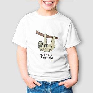 Camiseta Infantil Que Nem Mainha Branca