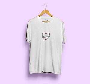 Camiseta Sua Obrigação Coração Branca