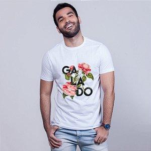 Camiseta Galado Floral Branca Amandrafts