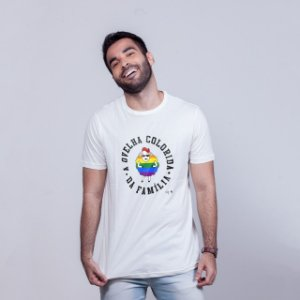 Camiseta Ovelha Colorida Branca Amandrafts