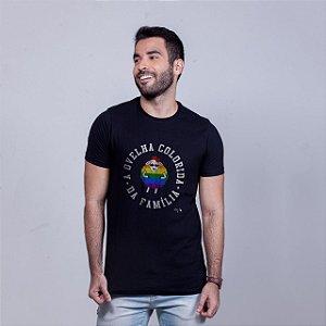 Camiseta Ovelha Colorida Preta Amandrafts