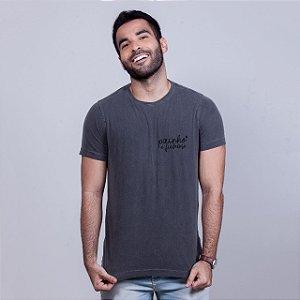 Camiseta Estonada Painho é Fuderoso Básica Chumbo