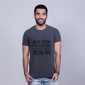 Camiseta Estonada Zé da Luz Chumbo