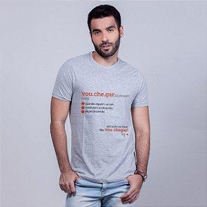 Camiseta Vou Chegar Dicionário Mescla