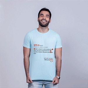 Camiseta Estonada Grea Dicionário Azul
