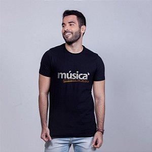Camiseta Música Alma Preta