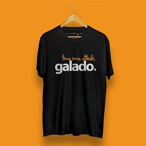 Camiseta Atitude Galado Preta Fórum Negócios