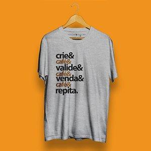 Camiseta Checklist Café Empreendedor Mescla Fórum Negócio