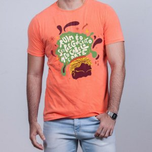 Camiseta  Estonada Cabelo Arte Laranja