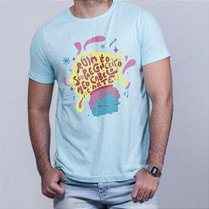 Camiseta Estonada Cabelo Arte Azul