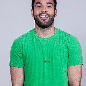 Camiseta Estonada Atitude Poder  e Respeito Verde