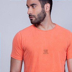 Camiseta Atitude Poder e  Respeito Laranja