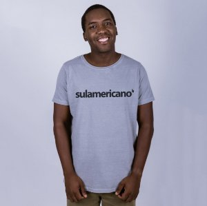 Camiseta Estonada Sulamericano Cinza