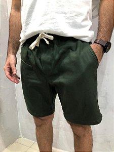 Bermuda Sarja Verde Musgo Sem Etiqueta