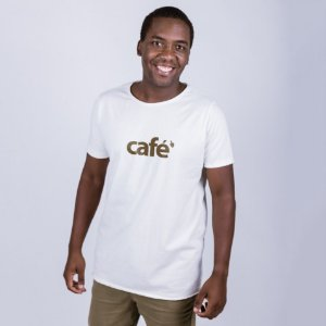 Camiseta A Fio Café Off White