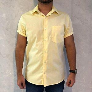 Camisa de Botão Amarela Sem Etiqueta