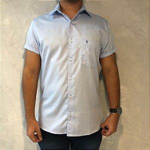 Camisa de Botão Azul Sem Etiqueta
