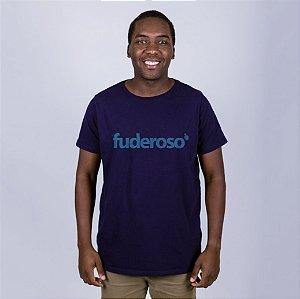 Camiseta Fuderoso Azul Marinho Letra Azul