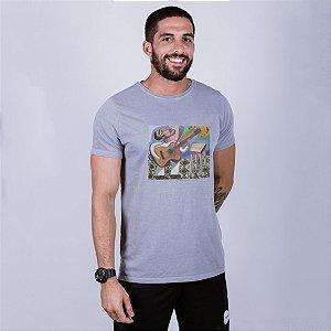 Camiseta Estonada Flávio Freitas Samba Cinza