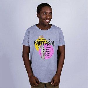 Camiseta Estonada A Minha Fantasia Cinza Umazarte