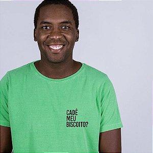 Camiseta Estonada Cadê meu Biscoito? Verde