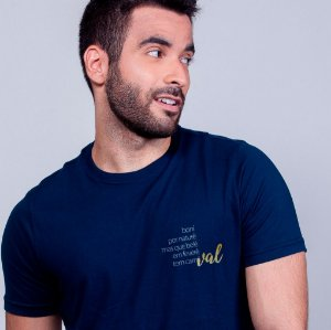 Camiseta País Tropical Azul Marinho