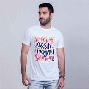 Camiseta Imagina Sem Roupa Branca