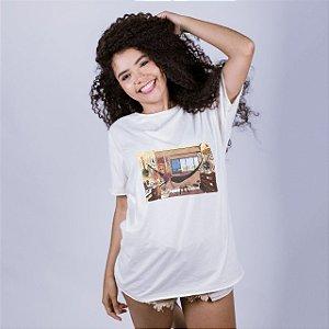 Camiseta A Fio Lo-Fi Natal Off White Amandrafts