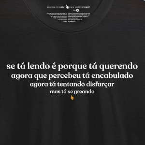 Camiseta Preta Tá Querendo