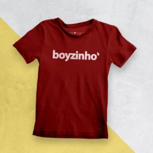 Camiseta Infantil Boyzinho Vermelha