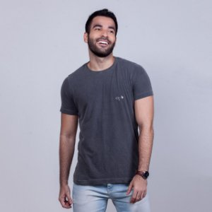 Camiseta Estonada Stq Básica Chumbo