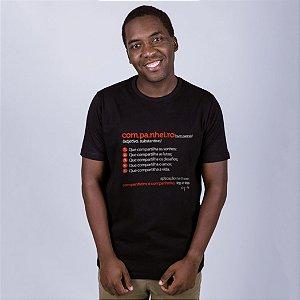 Camiseta Companheiro Dicionário Preta