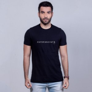 Camiseta Antifascista Preta