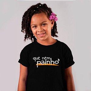 Camiseta Infantil Que Nem Painho Preta 2020