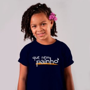 Camiseta Infantil Que Nem Painho Azul Marinho 2020