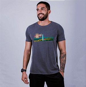 Camiseta Estonada Farol de Mãe Luíza Chumbo