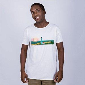 Camiseta Estonada A Fio Farol de Mãe Luíza Off White