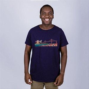 Camiseta Praia da Redinha Azul Marinho